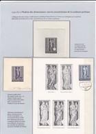 Stephansdom, Dienstboten-Madonna, 2 Phasenabzüge, Mit Und Ohne Werteindruck + Dokument. Sculpture Gothique - Skulpturen
