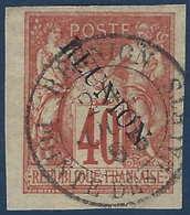 """France Colonies Réunion N°14B Sans Accent Oblitéré """"pointe Des Galets """"RR Et Superbe !! - Réunion (1852-1975)"""