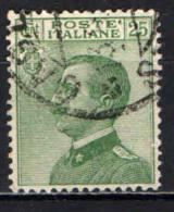 ITALIA REGNO - 1927 - EFFIGIE DEL RE VITTORIO EMANULELE III - MICHETTI - 25 CENT VERDE -  USATO - Used