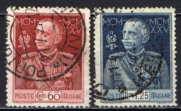 ITALIA REGNO - 1925-26 - GIUBILEO DEL RE VITTORIO EMANUELE III - PARMEGGIANI - DENTELLATURA 13 E 1/2 - USATI - Used