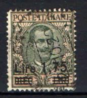 ITALIA REGNO - 1925 - EFFIGIE DEL RE VITTORIO EMANUELE III CON SOVRASTAMPA - OVERPRINTED - USATO - Used
