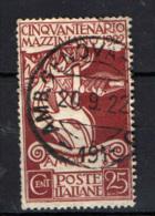 ITALIA REGNO - 1922 - CINQUANTENARIO DELLA MORTE DI GIUSEPPE MAZZINI - USATO - Usados