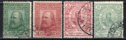 ITALIA REGNO - 1910 - GIUSEPPE GARIBALDI- RISORGIMENTO IN SICILIA PLEBISCITO ITALIA MERIDIONALE - CINQUANTENARIO - USATI - Usados