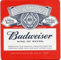 Lote U72, USA, Posavaso, Coaster, Budweiser, King - Portavasos