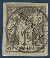 """France Colonies Réunion N°16 Oblitéré Sans Accent Oblitéré """"pointe Des Galets """"RR Et Superbe !! - Réunion (1852-1975)"""