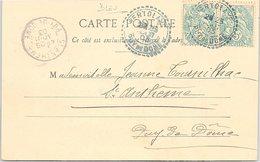 CARTE. 1903. BLANC. TYPE 1884. PUY-DE-DOME. VERTOLAYE  BLEU  / 2 - 1921-1960: Periodo Moderno