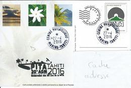 13054  PAP  PITA 20é Anniversaire - MAHINA - TAHITI - POLYNÉSIE FRANÇAISE - 2016 - Lettres & Documents