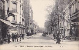 PARIS (75) - Rue Des Batignolles - La Poste - VC 35 - Sans Date - Frankreich