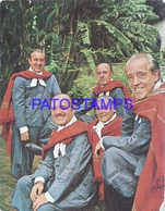 117334 ARGENTINA ARTIST LOS HERMANOS ABALOS SINGER CANTANTE AUTOGRAPH BREAK NO POSTAL POSTCARD - Argentine