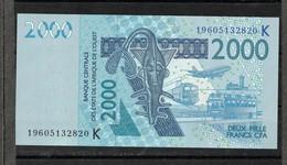 Senegal, 2003- Banque Centrale Des ètats De L'Afrique De L'ouest. 2000 Francs, AU SPL. - Sénégal