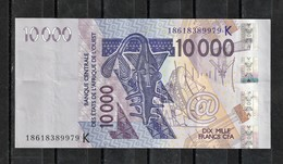 Senegal, 2003- Banque Centrale Des ètats De L'Afrique De L'ouest.10000Francs, VF. - Sénégal