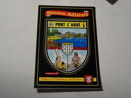 Carte Blason écusson Adhésif Autocollant Sticker Pont L'Abbé Avec Vues, Finistère 29 Adesivi Stemma Aufkleber Wappen - Obj. 'Souvenir De'