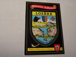 Carte Blason écusson Adhésif Autocollant Sticker Lozère Avec Vues Adesivi Stemma Aufkleber Wappen - Obj. 'Souvenir De'