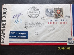 Helvetia: 1941 Censored Air Cover To New York, N.Y. (#VR6) - Switzerland
