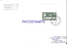 117344 ARGENTINA UK ISLAS MALVINAS FALKLANDS ISLAND SOUTH GEORGIAS COVER YEAR 1968 CIRCULATED TO ENGLAND NO POSTCARD - Argentinien