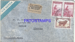 117349 ARGENTINA BUENOS AIRES COVER YEAR 1949 REGISTERED CIRCULATED TO VENEZUELA NO POSTCARD - Unclassified