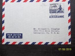Korea, South, R.O.K.: 1963 Aerogramme To USA (#VR8) - Corée Du Sud