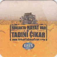 UNUSED BEERMAT - ANADOLU EFES BREWERY  (ISTANBUL, TURKEY) - SOKAKTA HAYAT VAR - Beer Mats