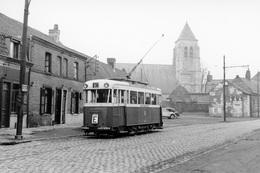 Lille. Ronchin. Tramways Ligne E. Cliché Jacques Bazin. 22-12-1956 - Tramways