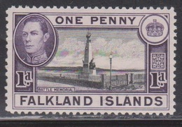FALKLAND ISLANDS Scott # 85B MH - KGVI & Battle Memorial - Falkland Islands