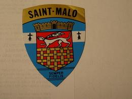 Blason écusson Autocollant Adhésif Sticker Saint Malo, Aufkleber Wappen, Adesivi Stemma - Obj. 'Souvenir De'