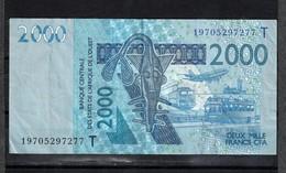 Togo, 2003- Banque Centrale Des ètats De L'Afrique De L'ouest. 2000 Francs, VF. - Togo
