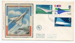 FDC Grande-Bretagne 1969 - Concorde - YT 555 à 557 - Filton - 1952-1971 Em. Prédécimales