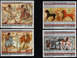 San Marino 1973 Etruscan Art From Tarquina 4 Values MNH - - Other