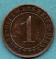R13/  GERMANY WEIMAR 1 RENTENPFENNIG 1924 A - 2 Rentenpfennig & 2 Reichspfennig