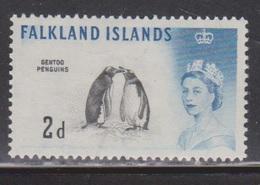 FALKLAND ISLANDS Scott # 130 MH - QEII & Gentoo Penguins - Bird - Falkland Islands