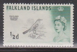 FALKLAND ISLANDS Scott # 128a MH - QEII & Falkland Islands Thrush - Bird - Falkland Islands