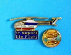 1 PIN'S //  ** St. MARGARET'S / LIFE FLIGHT / HÉLICOPTÈRE MBB BO-105C ** . (20/20) - Avions