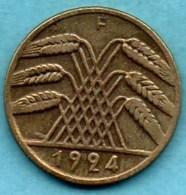 R13/ GERMANY WEIMAR 10 RENTENPFENNIG 1924 F - [ 3] 1918-1933 : Weimar Republic