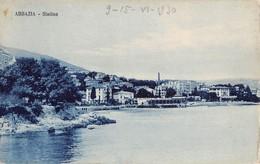 """08455 """"ABBAZIA - SLATINA"""" CARTOLINA ORIG. NON SPED. - Croazia"""