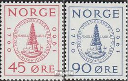 Norwegen 440-441 (kompl.Ausg.) Postfrisch 1960 Wissenschaftliche Gesellschaft - Norwegen