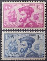 DF40266/516 - 1934 - JACQUES CARTIER - N°296 à 297 NEUFS** - Cote : 300,00 € - Nuovi