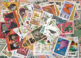 Bhutan Briefmarken-500 Verschiedene Marken - Bhutan