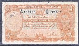 AUSTRALIA  TEN  SHILLINGS - Pre-decimaal Stelsel Overheidsuitgave 1913-1965