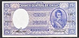 CHILE  1940's  UNC  5 PESOS - Chile