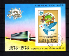 196g * NORDKOREA BLOCK * POSTAL HISTORY * GESTEMPELT ** !! - Philatelie & Münzen