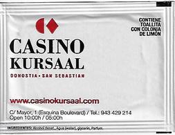 Casino Kursaal San Sebastian Spain - Hand Wipe Packet - Casinokarten