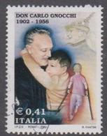 Italy Republic S 2658 2002 Father Carlo Gnocchi, Used - 6. 1946-.. Repubblica