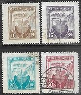 Korea  1955   Sc#209-12 Set Used   2016 Scott Value $29.25 - Korea, South