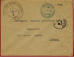 1945- Enveloppe En F M  De Paris  - 2 ème Division Blindée - 13ème Bataillon Du Génie - Marcophilie (Lettres)