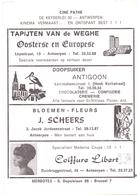 Pub Reclame - Ciné Cinema Bioscoop - Ciné Pathé Antwerpen - Foto Photo Star Vedette Janet Leigh - Publicité Cinématographique