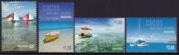 Cocos Keelings Islands 2011 Boats Sc 356-59 Mint Never Hinged - Kokosinseln (Keeling Islands)
