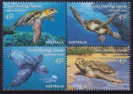 Cocos (Keeling) Islands 2002 Turtles Mint Never Hinged - Kokosinseln (Keeling Islands)