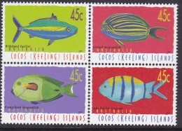 Cocos Keeling Islands 2001 Fish  Sc 335 Mint Never Hinged - Kokosinseln (Keeling Islands)