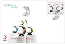 TURKEY/2019 - (FDC) 150th YEAR OF TURKISH RED CRESCENT (Red Cross), MNH - Nuevos