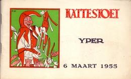 Programma Kattestoet Ieper Yper - 1955 - Illustratie Frans Van Immerseel - Kattenstoet - Programmes
